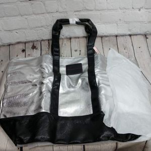 NWT Metallic Victoria's Secret tote bag